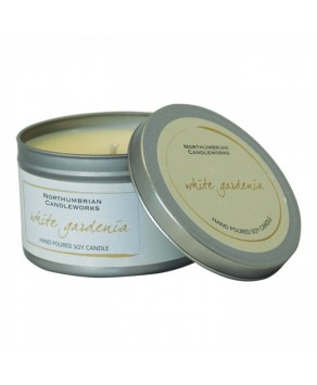 Aromatherapy - Small Candle Tin (White Gardenia)
