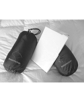 Pillow Case for Travel Size Danish Duck Down and Feather Pillow [40 x 35cm]