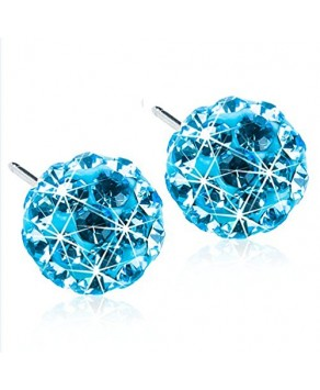Nickel Free -  Medical Plastic Earring Aquamarine 6 mm