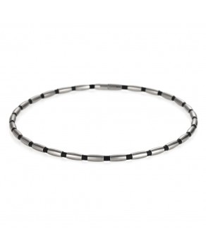 TeNo Collier Olive Chain rubber and stainless steel - Teno Size: