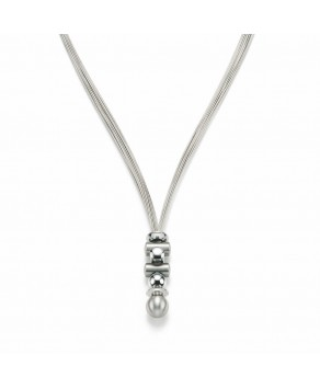 Nickel Free - Teno Woman Designer V-Necklace Stainless Steel - Teno Size: