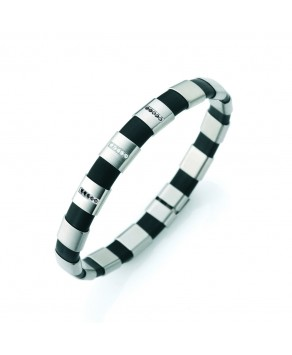 TeNo bracelet ShiKou with black and white diamonds - Teno Size: