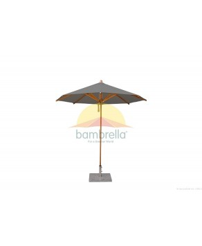 Levante Parasol 2.5m Taupe- Round - Size: